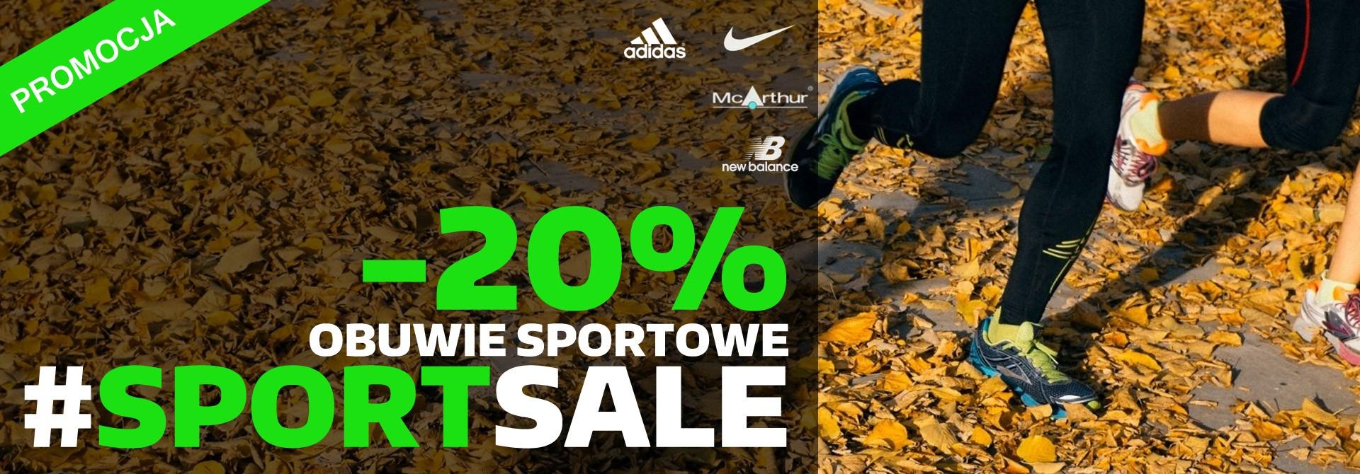SportSale -20% na wszystkie buty sportowe!